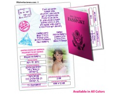 Passport to my Quince - Invitaciones de Quinceanera